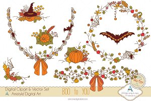 Boo to You Clipart&Vector