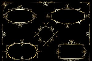 Vector decorative ornate frames