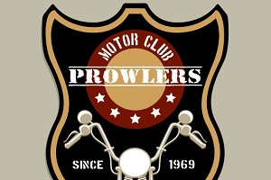 Motorcycle group badge-style logo