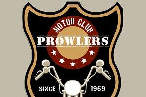 Motorcycle group badge-style logo