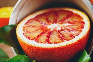 Still Life with Ripe Juicy Citrus