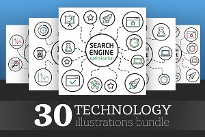 30 Technology Illustration Bundle