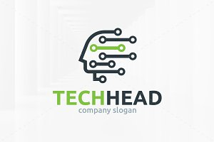 Tech Head Logo Template