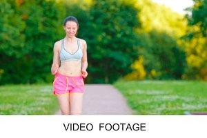 Runner - woman outdoors training