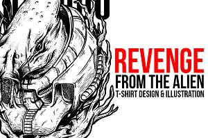 Revenge from the Alien Illustration