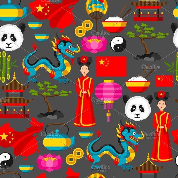 China seamless patterns.