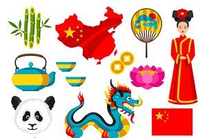 China icons set.