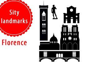 City landmarks in Florence