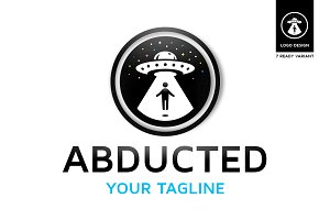 Abducted - Ufo Logo Design