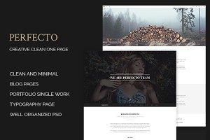 Perfecto - Creative Minimal Onepage
