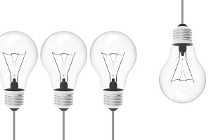 illustration concept of Light bulb
