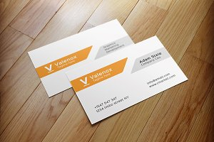 White + Dark Creative Business Card