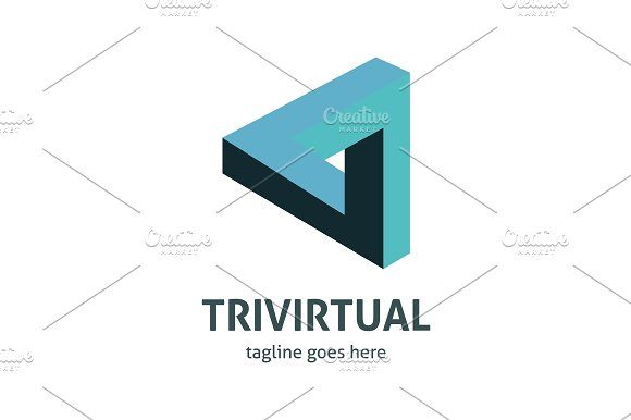 Trivirtual Logo in Logo Templates - product preview 2