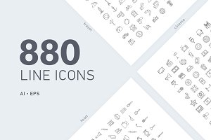 880 vector line icons