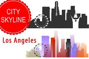 Los Angeles vector skyline