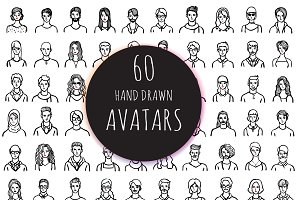 60 Hand drawn avatars