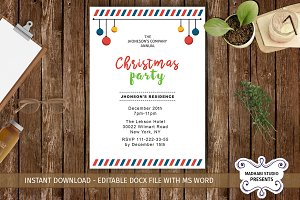Company Christmas Party Invitations