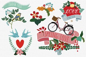 Spring Love Vectors