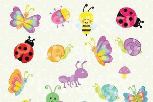Cute Bugs Clip Art