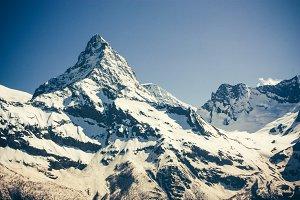 Mountains peaks.