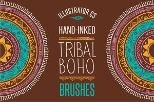 50 Boho - Tribal - Gypsy Ai Brushes