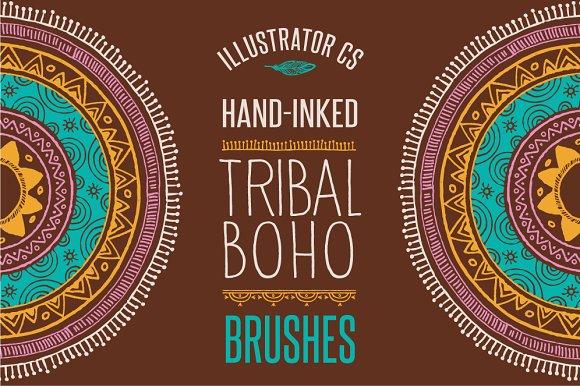 50 Boho - Tribal - Gypsy Ai Brushes