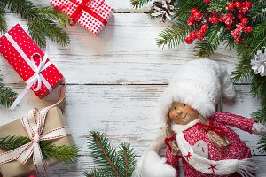 Christmas presents and Christmas Doll