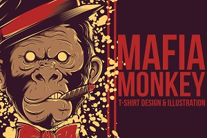Mafia Monkey Illustration