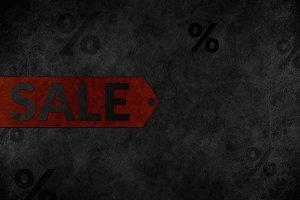 Dark Sale Tag Background
