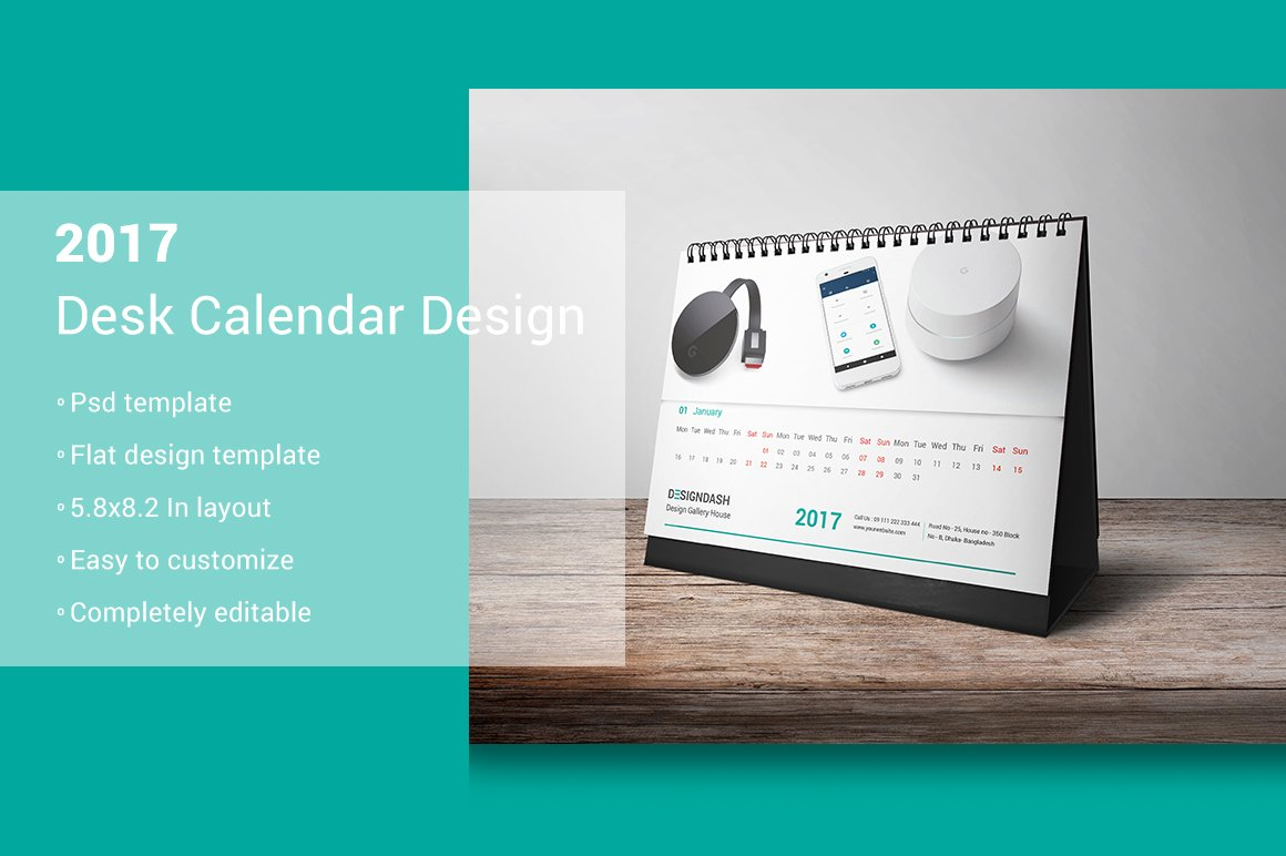 Desk Calendar Design : Desk calendar design stationery templates