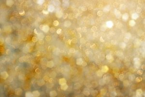 Gold Metallic Bokeh Photo