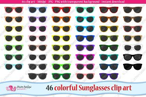 Colorful Sunglasses clipart