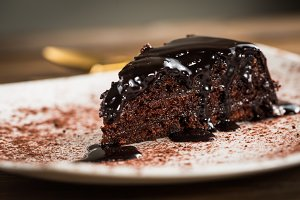 Chocolate piece of cake