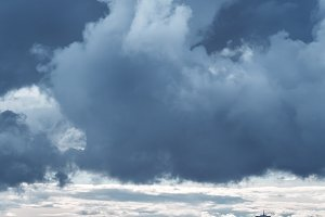 Blue Sky with Stormy Clouds
