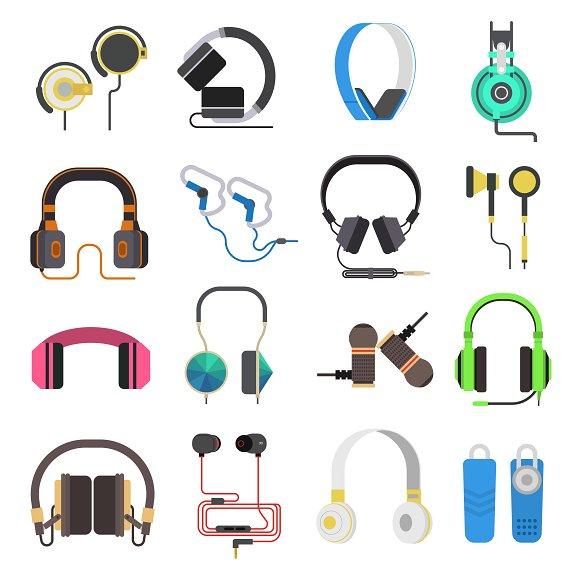 Headphones Vector Set