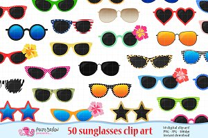 50 Sunglasses clipart