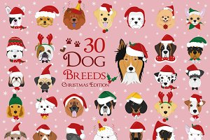 Christmas 30x Dog Breeds