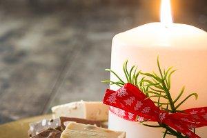 Christmas torrone or nougat
