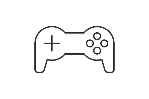 Joystick Thin Line Icon