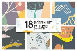 18 MODERN ART PATTERNS
