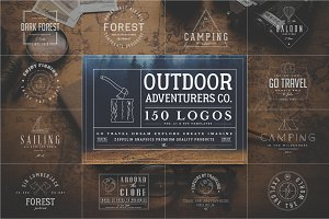 150 Outdoor Adventurers Logos
