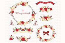 Christmas Floral Collection Set