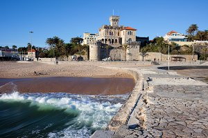 Seaside Town of Estoril in Portugal