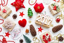 Christmas and New Year 2017 decor