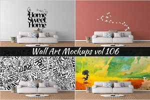 Wall Mockup - Sticker Mockup Vol 106