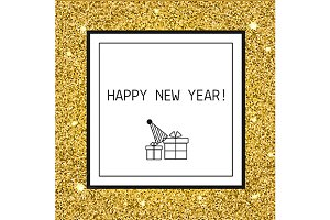 New year card, background. eps, jpg