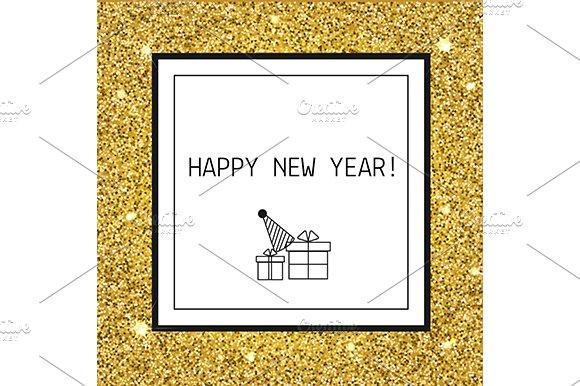 New year card, background. eps, jpg - Illustrations