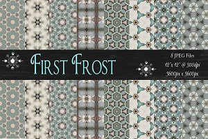 First Frost Background Patterns
