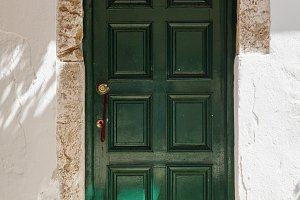 An Old Door. Corfu Island, Greece.