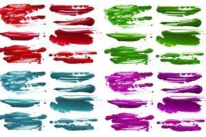 color brush strokes blots